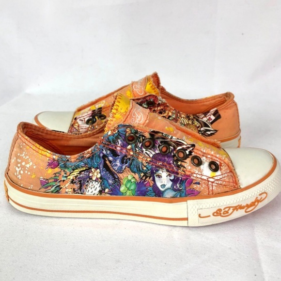 24adf79cc Ed Hardy Shoes | Orange Sneakers | Poshmark